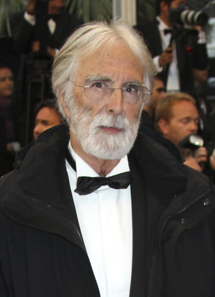 Director Michael Haneke arrives for the awards ceremony at the 65th international film festival, in Cannes, southern France, Sunday, May 27, 2012. (AP Photo/Joel Ryan)