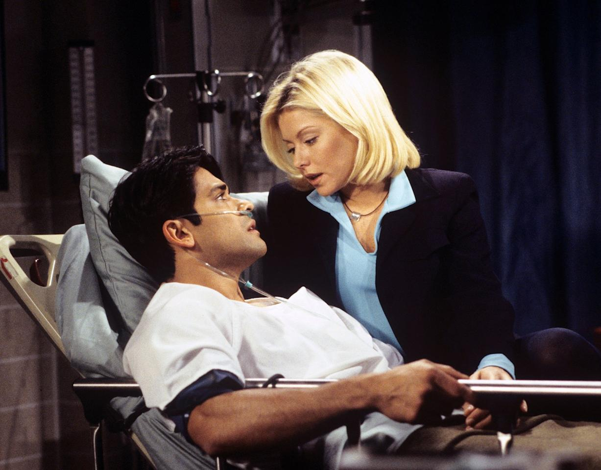 "Before Kelly Ripa became the host of her eponymous morning talk show with Ryan Seacrest, she was a star on  <i>All My Children </i>in the '90s. During her turn on the successful soap opera, she participated in a screen test with a potential TV love interest — who just so happened to be her future IRL husband — named Mark Consuelos.  ""I thought she was adorable, hot and sexy and all that stuff,"" <a href=""http://www.huffingtonpost.com/2014/10/22/mark-consuelos-kelly-ripa_n_6030318.html"">Consuelos told HuffPost Live of their meet-cute</a>. ""But I was very focused — I didn't really think I had a chance with her, so I wasn't really focused on that.""  The chemistry was so apparent, Consuelos was offered the gig much to the delight of Ripa. ""I was drawn to Mark because he was positively an alpha male, and I didn't think I would be drawn to that. But I just worship him,"" <a href=""http://www.elle.com/culture/celebrities/a2492/kelly-ripa-interview/"">the <i>Live with Kelly and Ryan</i> co-host told<i> ELLE</i></a> in 2013."