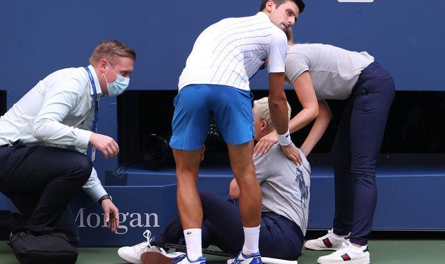 Novak Djokovic says he is 'so sorry' after incident leaves him disqualified from US Open