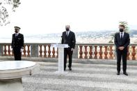 French Prime Minister Jean Castex pays tribute to the victims of a deadly knife attack, in Nice