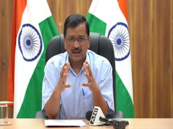 Delhi Chief Minister Arvind Kejriwal during press conference in New Delhi on Tuesday. Photo/ANI