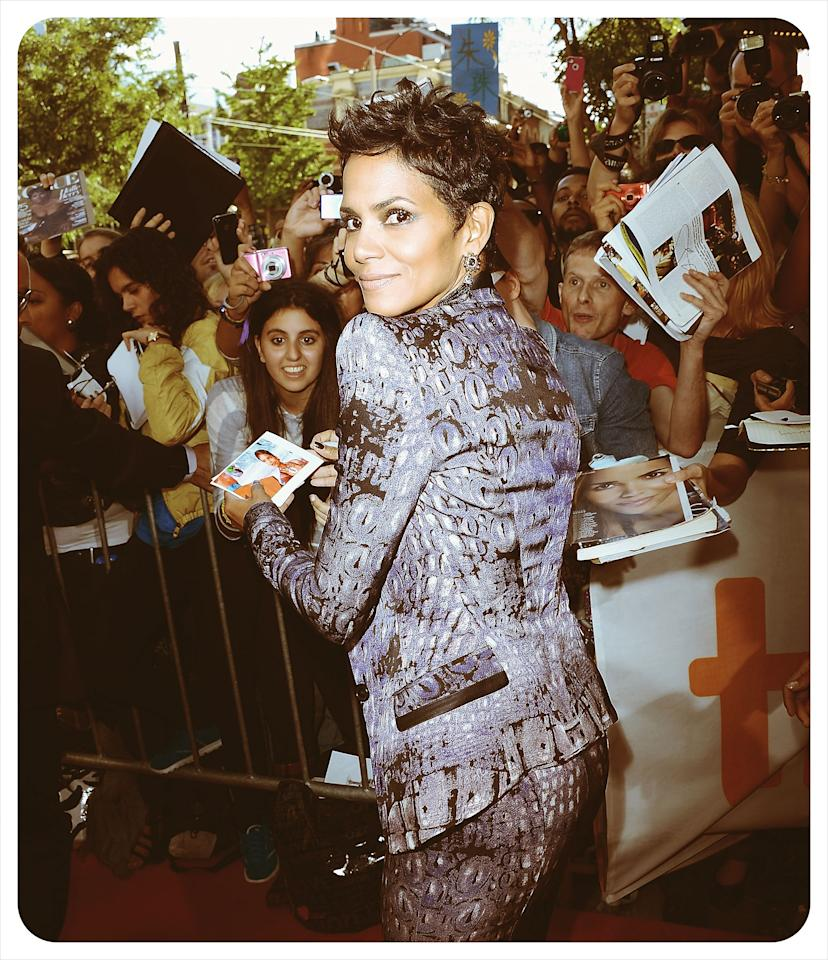 TORONTO, ON - SEPTEMBER 08:  <<(EDITORS NOTE: Image was processed using various digital filters) Actress Halle Berry attends the 'Cloud Atlas' premiere during the 2012 Toronto International Film Festival at the Princess of Wales Theatre on September 8, 2012 in Toronto, Canada. (Photo by Jason Merritt/Getty Images)  (Photo by Jason Merritt/Getty Images)
