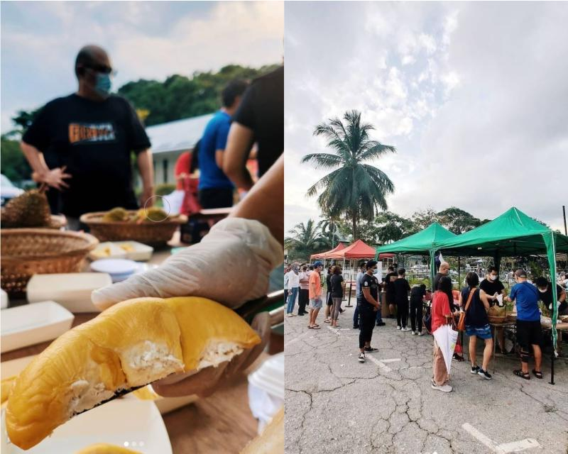 Collage Of Durian Market