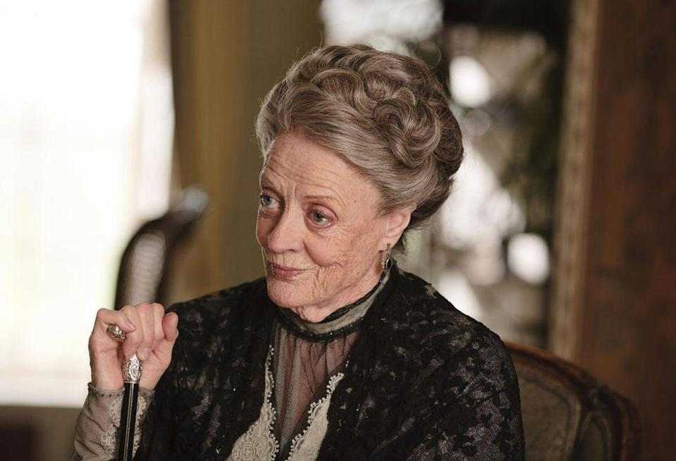"""<p>""""It's frustrating. I always see things that I would like to do differently and think, 'Oh, why in the name of God did I do that?'"""" she explained in an <a href=""""http://www.cbsnews.com/news/maggie-smiths-never-seen-downton-abbey/"""" rel=""""nofollow noopener"""" target=""""_blank"""" data-ylk=""""slk:interview with 60 Minutes"""" class=""""link rapid-noclick-resp"""">interview with 60 Minutes</a>. </p>"""