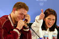 <p>At the 2002 Winter Games, French judge Marie-Reine Le Gougne awarded Russian pairs figure skaters Yelena Berezhnaya and Anton Sikharulidze enough points to edge Canadians Jamie Salé and David Pelletier for the gold, despite everyone else seeing it the other way around. Eventually, Le Gougne admitted it was a plot to award Russia gold in one event and France gold in another. After the revelation, Salé and Pelletier (pictured) were awarded the gold. Le Gougne was suspended indefinitely. </p>