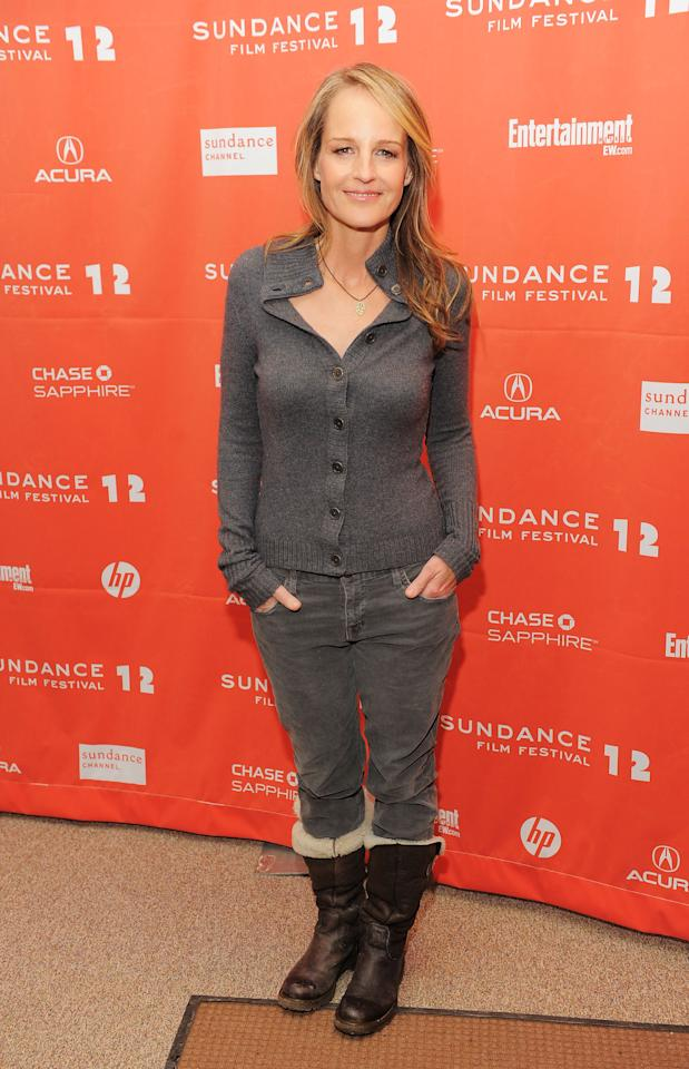 """PARK CITY, UT - JANUARY 23:  Actress Helen Hunt attends """"The Surrogate"""" premiere during the 2012 Sundance Film Festival held at Eccles Center Theatre on January 23, 2012 in Park City, Utah.  (Photo by Jemal Countess/Getty Images)"""