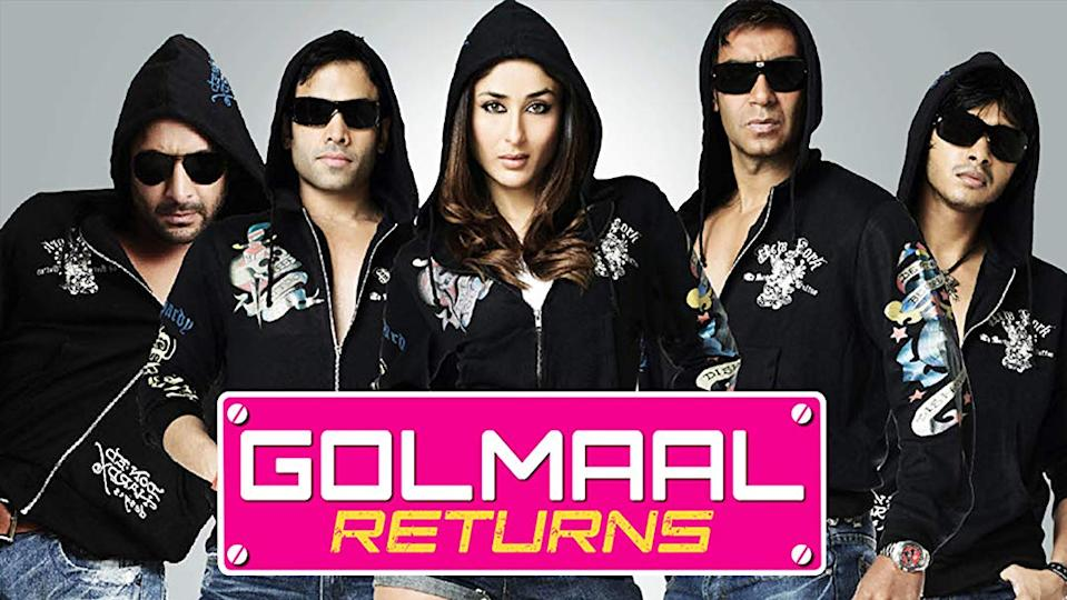 No list on popular sequels in Bollywood can be complete without including the Golmaal series - amongst the most popular and successful of all sequels in Bollywood. The original Golmaal Fun Unlimited, released in 2006, was Ajay Devgan's comeback to comedy, after Masti. It also featured Arshad Warsi, Tusshar Kapoor and Sharman Joshi, while the subsequent parts had Kareena Kapoor and Kunal Khemu, with Shreyas Talpade replacing Joshi. The film, whose storyline is similar to the Malayalam film Kakkakuyil, is based on the Gujarati play Aflatoon, adapted from Harsh Shivsharan's original Marathi play Ghar-Ghar. Golmaal Returns, released in 2008, added horror to the mix, while Golmaal 3, released in 2010, was a copy of Basu Chatterjee's Khatta Meetha and was the second-highest-grossing Bollywood film of that year. The fourth installment of this series, Golmaal Again released in 2017, had Parineeti Chopra, Tabu, Neil Nitin Mukesh and Kunal Khemu join the cast. While the film was met with mixed reviews, it broke box office records and entered the 100 million club within three days of collection. Director Rohit Shetty is reportedly working on the script of the fifth instalment, which may release in 2021.