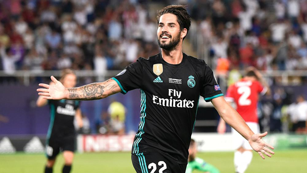 Isco Alarcon Real Madrid Manchester United UEFA Supercup