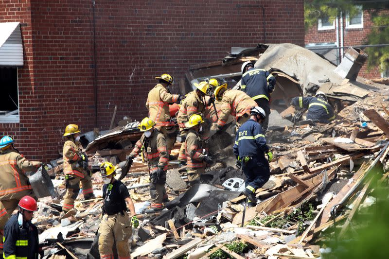 Gas explosion tears through Baltimore homes, at least one person killed