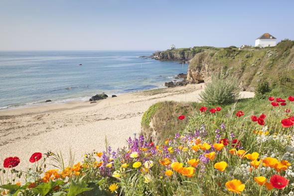 Grand Sables beach at Le Pouldu, Brittany, France