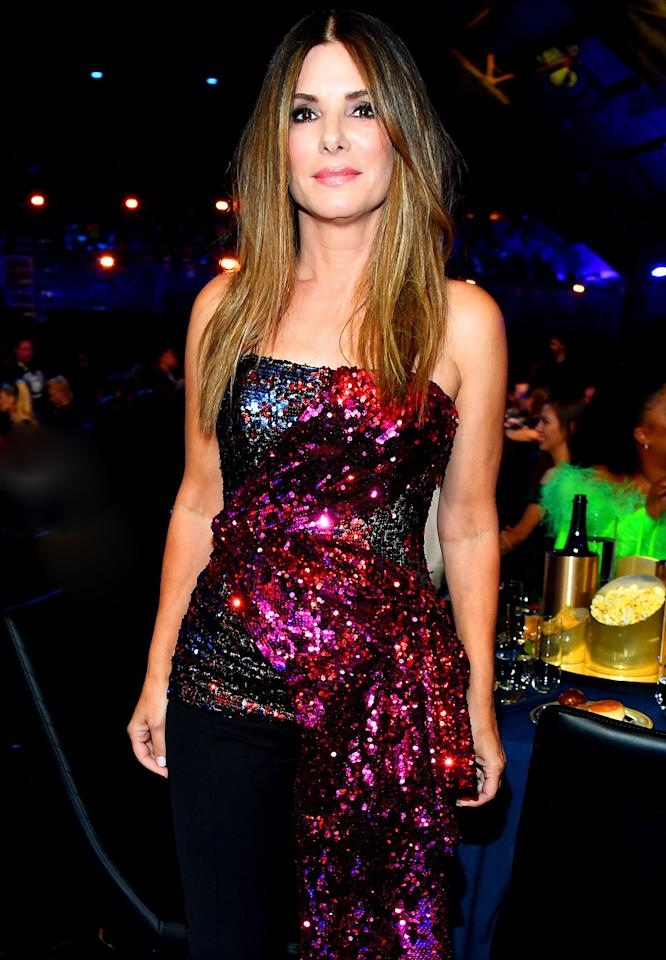 """<a href=""""http://people.com/tag/sandra-bullock"""">Bullock</a> was PEOPLE's 2015 World's Most Beautiful Woman at age 50. Now 55, the stunning star <a href=""""http://people.com/movies/sandra-bullock-shares-the-advice-she-would-give-her-younger-self/"""">previously said</a>that growing older has been easy because """"I'm doing it on my own terms."""""""