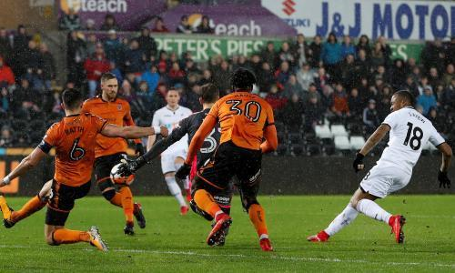 Jordan Ayew's quality finish offers Swansea Cup relief against Wolves