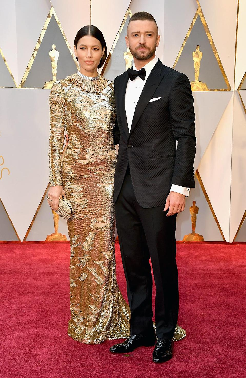 <p>Jessica Biel and Justin Timberlake attend the 89th Annual Academy Awards at Hollywood & Highland Center on February 26, 2017 in Hollywood, California. (Photo by Steve Granitz/WireImage) </p>