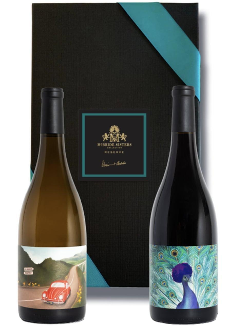 <p>We fully approve of this <span>McBride Sisters California Reserve Wine Set</span> ($145), which includes a bottle of Chardonnay and Pinot Noir. The red wine is inspired by the sister duo's father, and exudes pure silk, tasty fruit notes, wile the white wine is characterized by bright acidity.</p>
