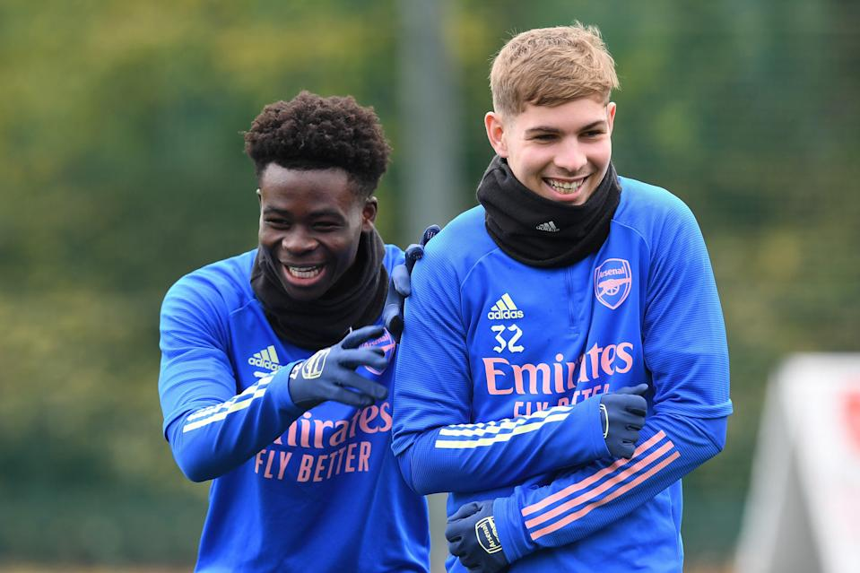Balogun is taking inspiration from Gunners pair Bukayo Saka and Emile Smith RoweArsenal FC via Getty Images