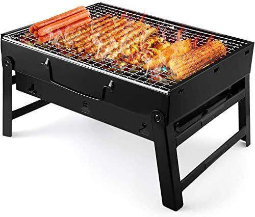 "This folding grill's easy to use &mdash; with foldable legs that stretch out when you're ready to barbecue and ventilation holes on each side to make sure your meal's feeling the heat. <a href=""https://amzn.to/31slbCl"" rel=""nofollow noopener"" target=""_blank"" data-ylk=""slk:Find it for $23 at Amazon"" class=""link rapid-noclick-resp"">Find it for $23 at Amazon</a>."