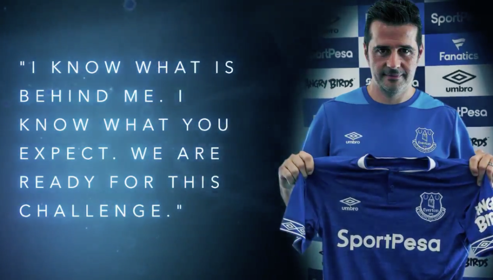 Marco Silva has been named the new Everton manager