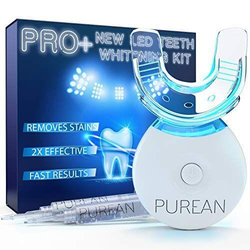 """<p><strong>PUREAN</strong></p><p>amazon.com</p><p><strong>$39.99</strong></p><p><a href=""""https://www.amazon.com/dp/B07RPY29GS?tag=syn-yahoo-20&ascsubtag=%5Bartid%7C2139.g.33486702%5Bsrc%7Cyahoo-us"""" rel=""""nofollow noopener"""" target=""""_blank"""" data-ylk=""""slk:Shop Now"""" class=""""link rapid-noclick-resp"""">Shop Now</a></p><p>This at-home teeth-whitening kit comes with two syringes full of teeth-whitening formula and an LED light.""""Thirty-minute sessions offer results in just one application,"""" says <a href=""""http://www.envysmile.com/"""" rel=""""nofollow noopener"""" target=""""_blank"""" data-ylk=""""slk:Marianna M. Weiner, DDS,"""" class=""""link rapid-noclick-resp"""">Marianna M. Weiner, DDS,</a> a cosmetic dentist at <a href=""""http://www.envysmile.com/"""" rel=""""nofollow noopener"""" target=""""_blank"""" data-ylk=""""slk:Envy Smile"""" class=""""link rapid-noclick-resp"""">Envy Smile</a>.</p>"""