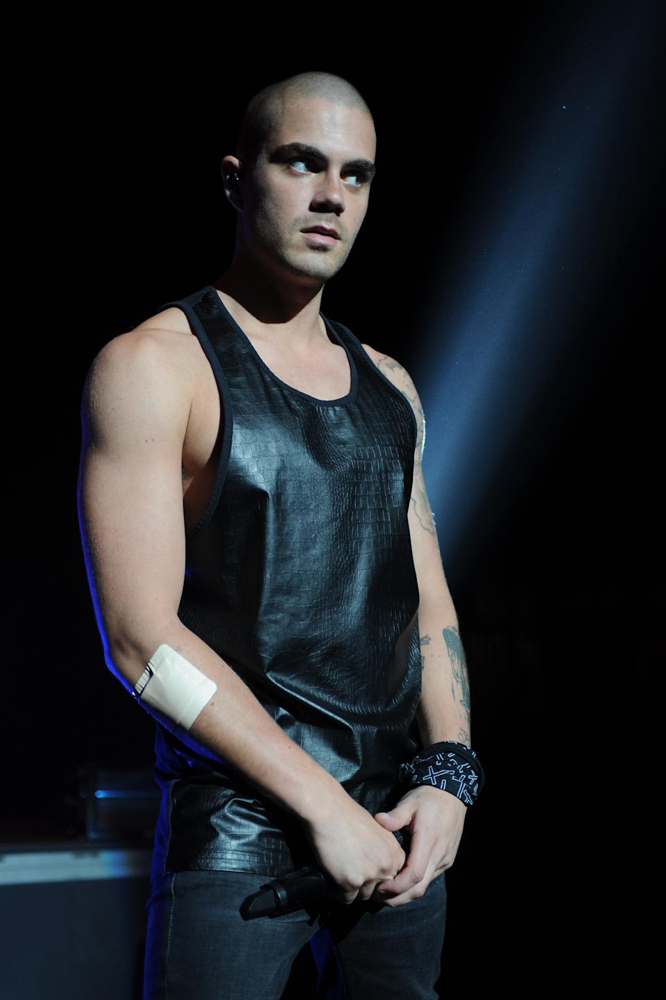 Max George of The Wanted performs at Fillmore Miami Beach on May 9, 2014 in Miami Beach, Florida. (Photo by Larry Marano/Getty Images)