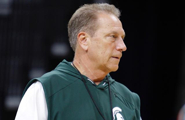 Tom Izzo spoke Friday on the sentencing hearing of former MSU doctor Larry Nassar. (AP)
