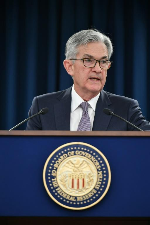 Federal Reserve Board Chair Jerome Powell said tapering could come this year, but gave no details (AFP/MANDEL NGAN)