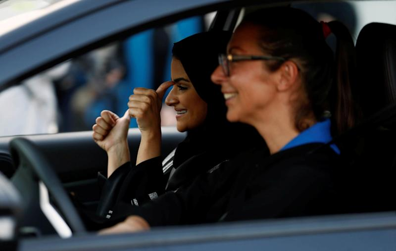 To prepare for the rule change on 24 June, women are already taking driving lessons in Jeddah: Reuters