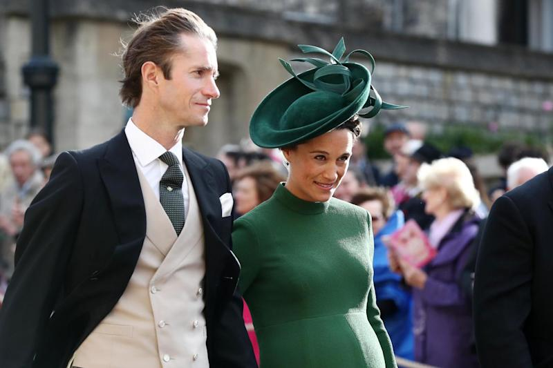 Pippa Middleton at the royal wedding on Friday with husband James Matthews: PA Wire/PA Images