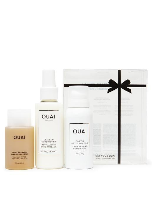 <p>Whether you have curly, straight, wavy, or coily hair the <span>Get Your OUAI Kit</span> ($38) is a great gift to receive. It features a full-size Leave In Conditioner, travel-size Detox Shampoo, and a travel-size Super Dry Shampoo.</p>