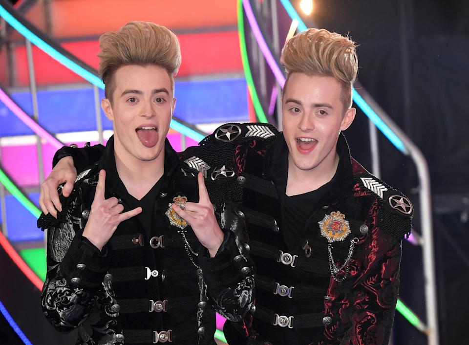 BOREHAMWOOD, ENGLAND - FEBRUARY 03:  Jedward come 2nd after being evicted from the Celebrity Big Brother houseon February 3, 2017 in Borehamwood, United Kingdom.  (Photo by Karwai Tang/WireImage)