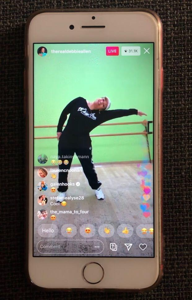 Debbie Allen taught a dance class on Instagram live which attracted more than 30,000 people.
