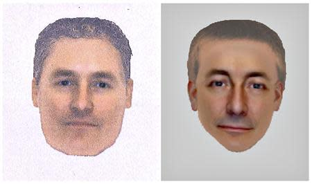 A combination photo shows two e-fit images released by the Metropolitan Police of a man they want to identify and trace in connection with their investigation into the disappearance of Madeleine McCann