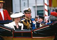 "<p>Dates differ as to when, exactly, Charles started seeing Camilla again. Caroline Graham's book <strong>Camilla and Charles: The Love Story</strong> suggested that they rekindled their affair in 1980, when she was a shoulder to lean on following <a href=""https://www.popsugar.com/entertainment/why-did-ira-kill-lord-mountbatten-47961136"" class=""link rapid-noclick-resp"" rel=""nofollow noopener"" target=""_blank"" data-ylk=""slk:the death of his great uncle, Lord Mountbatten"">the death of his great uncle, Lord Mountbatten</a>. Charles himself, <span>in a documentary in 1994</span>, claimed that he and Camilla were only ""very great friend[s]"" until 1986, when his marriage to Diana ""became irretrievably broken down, us both having tried."" By the mid-1980s, however, pretty much everyone agrees that the Charles-Diana marriage was in tatters and that he was having an affair with Camilla.</p>"