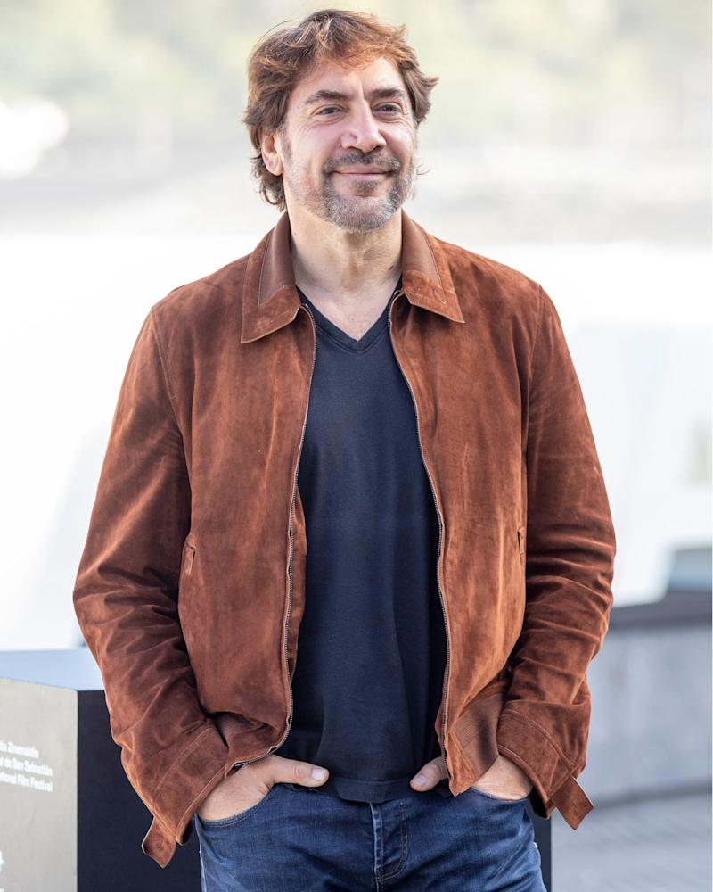 Thank you, Javier Bardem, for officially opening suede jacket season.