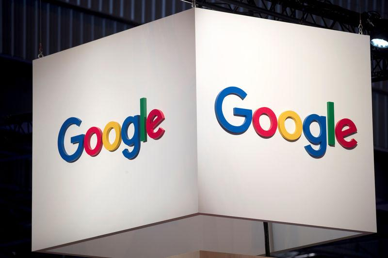 The logo of Google is pictured during the Viva Tech start-up and technology summit in Paris