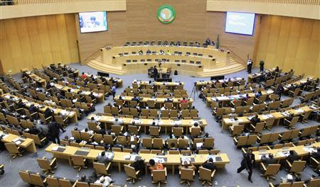 A general view of the opening session of Heads of States and Government of the African Union on the case of African relationship with the ICC in Addis Ababa