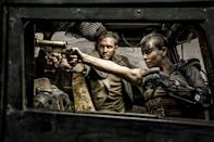 <p><strong>Shaved</strong></p><p>Even with her shaved head in <em>Mad Max: Fury Road</em>, Theron found a way to exude femininity with such a masculine appearance<em>.</em></p>