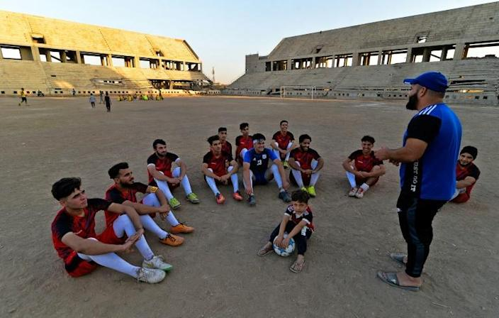 During the brutal reign of the Islamic State group many facets of daily life, including football, changed in Iraq but now players are committed to train a couple times a week