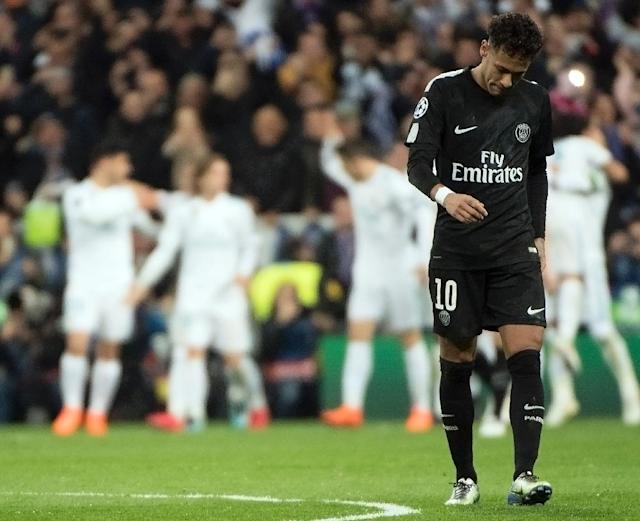 Neymar and PSG find themselves under pressure after losing at Real Madrid (AFP Photo/CURTO DE LA TORRE)