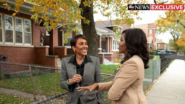 PHOTO: Former first lady Michelle Obama speaks to ABC News' Robin Roberts for a prime-time ABC special on her memoir, 'Becoming.' (Chuck Kennedy for ABC)
