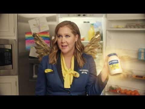 """<p>Schumer is the Fairy God-mayo in this commercial, aiding a confused man on how to make the ingredients in his fridge into may-containing meals. </p><p>When the commercial aired during the Super Bowl, Schumer shared <a href=""""https://www.instagram.com/p/CLA0DutJiuB/"""" rel=""""nofollow noopener"""" target=""""_blank"""" data-ylk=""""slk:an adorable video of her son Gene"""" class=""""link rapid-noclick-resp"""">an adorable video of her son Gene</a> reacting to watching his mother on the big screen.</p><p><a href=""""https://www.youtube.com/watch?v=9dtbbMddugE"""" rel=""""nofollow noopener"""" target=""""_blank"""" data-ylk=""""slk:See the original post on Youtube"""" class=""""link rapid-noclick-resp"""">See the original post on Youtube</a></p>"""