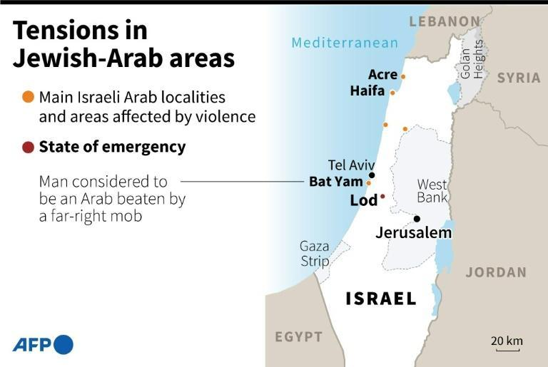 Tensions in Jewish-Arab areas