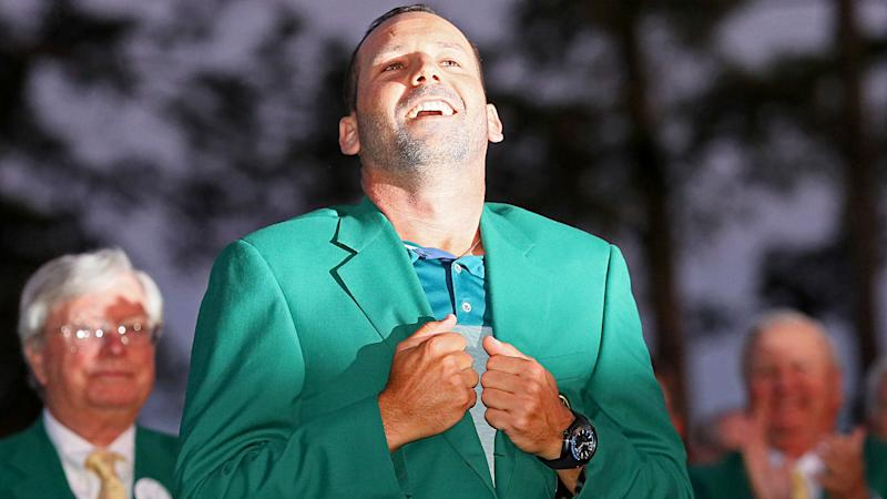 CBS captures unforgettable shot after Sergio Garcia's Masters win