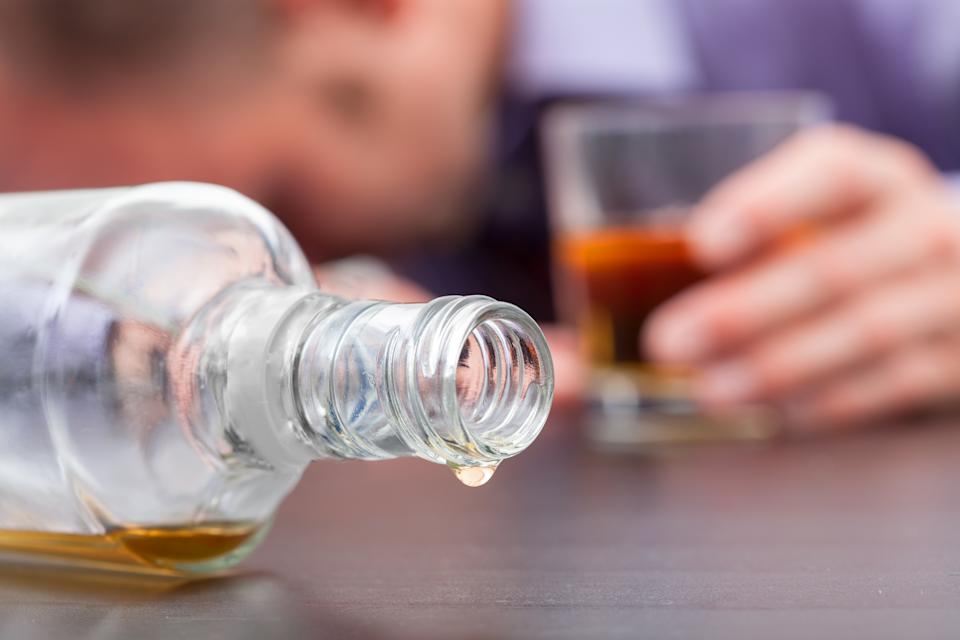 Uncontrolled consumption of alcohol - alcoholizm disease