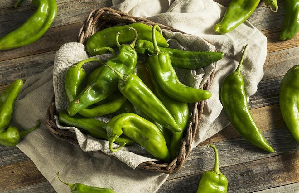 "<p>Red and green Hatch chiles are practically a way of life in<a href=""https://www.thedailymeal.com/best-food-drink-new-mexico-2018-slideshow?referrer=yahoo&category=beauty_food&include_utm=1&utm_medium=referral&utm_source=yahoo&utm_campaign=feed"" rel=""nofollow noopener"" target=""_blank"" data-ylk=""slk:New Mexico"" class=""link rapid-noclick-resp""> New Mexico</a>. The chile is the official state vegetable, and a spicy sauce made from chiles is served with practically every meal. Can't decide if you want red or green chiles with your food? Just order ""Christmas.""<a href=""https://www.thedailymeal.com/travel/funniest-slang-term-every-state-slideshow/?referrer=yahoo&category=beauty_food&include_utm=1&utm_medium=referral&utm_source=yahoo&utm_campaign=feed"" rel=""nofollow noopener"" target=""_blank"" data-ylk=""slk:It's slang"" class=""link rapid-noclick-resp""> It's slang</a>, but everyone knows that means you want both.</p>"