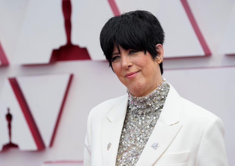 Diane Warren attends the 93rd Annual Academy Awards at Union Station on April 25, 2021 in Los Angeles, California.  The songwriter is set to adopt a cow that broke free from a slaughterhouse. (Getty Images)