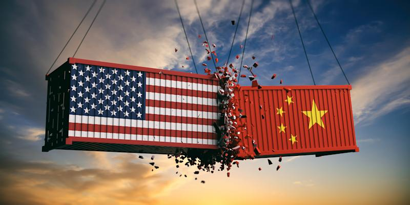 USA and China trade war. Photo: Getty
