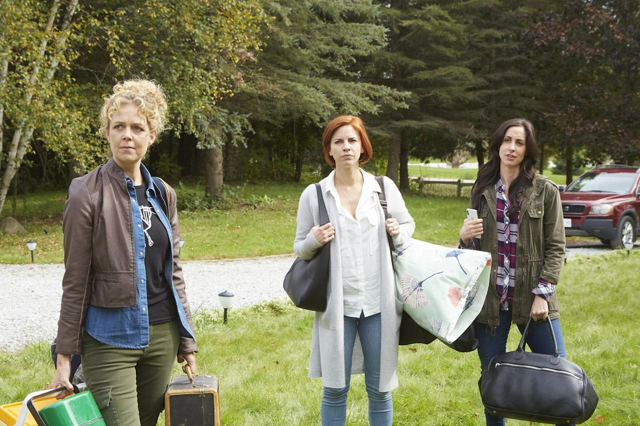 """<p>That's right, it's another Canadian comedy featuring a gaggle of hysterical characters and a few moments of questionable parenting. <strong>Workin' Moms</strong> also manages to take hot-button subjects and give them a comedic flair, much like <strong>Schitt's Creek</strong> does with sexuality. The best thing about the show is that its humor never skips a beat, but it feels just as authentic and relevant as the comedy featured in <strong>Schitt's Creek</strong>. </p> <p><a href=""""http://www.netflix.com/title/80198991"""" target=""""_blank"""" class=""""ga-track"""" data-ga-category=""""Related"""" data-ga-label=""""http://www.netflix.com/title/80198991"""" data-ga-action=""""In-Line Links"""">Watch <strong>Workin' Moms</strong> on Netflix</a>.</p>"""