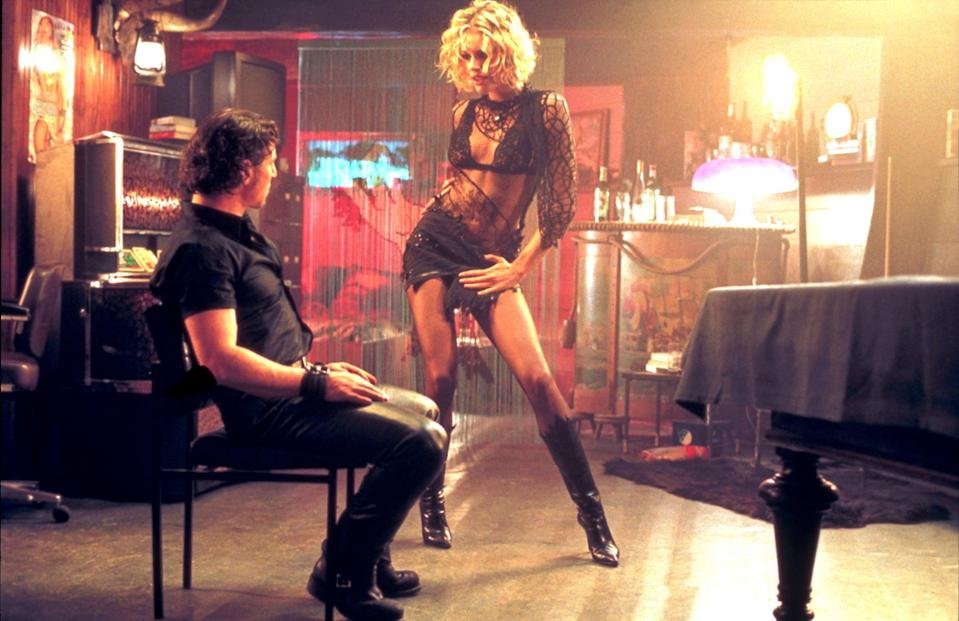 """<p>Glitz, glam, and sex make up this 2002 thriller flick. When Laure, a member of a crime ring, steals jewels from a model, she decides to flee instead of splitting the fortune. Along the way, she meets a girl named Lily, who is basically identical to her. After Lily kills herself, Laure takes over her identity and tries to start a new life.</p> <p>Watch <a href=""""https://play.hbomax.com/page/urn:hbo:page:GXioB8gx8Pp0jqwEAAAAh:type:feature"""" class=""""link rapid-noclick-resp"""" rel=""""nofollow noopener"""" target=""""_blank"""" data-ylk=""""slk:Femme Fatale""""> <strong>Femme Fatale</strong></a> on HBO Max now.</p>"""