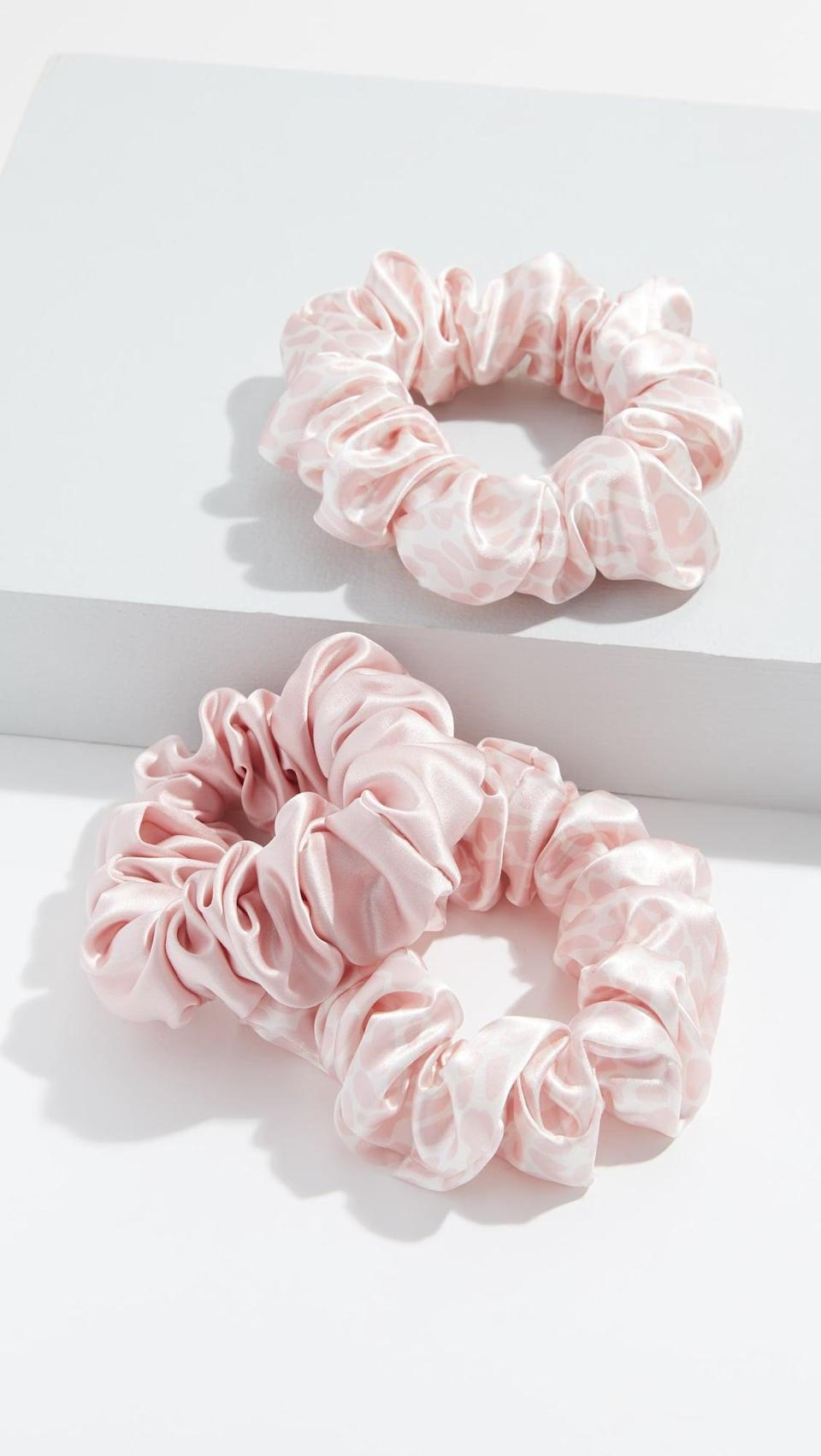 <p>Take care of her hair with this awesome <span>Slip Classic Large Scrunchie Set of 3</span> ($39). These won't leave dents in her hair or tear strands out.</p>