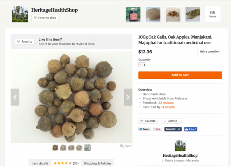 <i>Several Etsy stores are claiming the wasp nest by-product can improve your sex life [Photo: Etsy]</i>